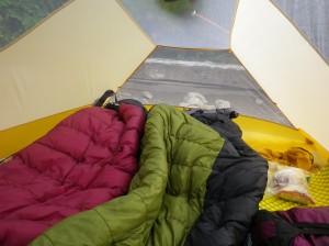 テント内は明るく開放的