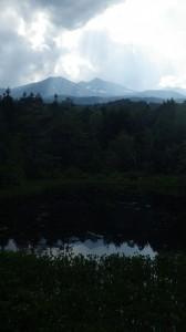 山麗にある一之瀬遊園からの乗鞍岳
